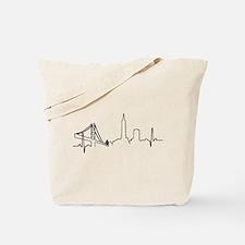 San Francisco Heartbeat Tote Bag