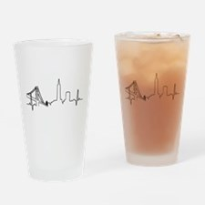 San Francisco Heartbeat Drinking Glass