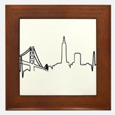 San Francisco Heartbeat Framed Tile