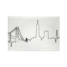 San Francisco Heartbeat Rectangle Magnet