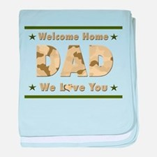 Welcome Home Dad baby blanket