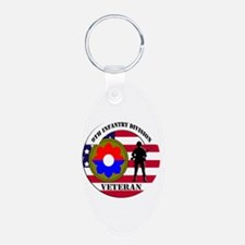 9th Infantry Division Keychains