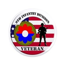 """9th Infantry Division 3.5"""" Button"""
