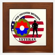 9th Infantry Division Framed Tile