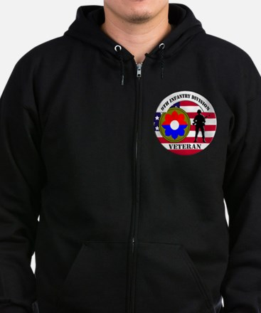 9th Infantry Division Zipped Hoodie