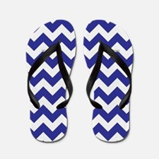 Chevron Blue Flip Flops