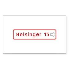 Roadmarker, Helsingor - Denmark Sticker (Rectangu