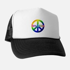 Rainbow Merry Christmas Peace Trucker Hat
