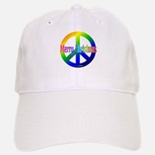 Rainbow Merry Christmas Peace Baseball Baseball Cap