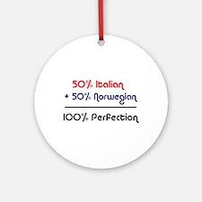 Italian & Norwegian Ornament (Round)