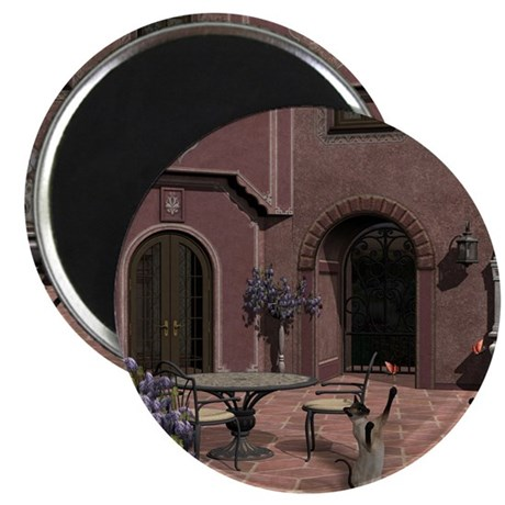 "Quiet Courtyard 2.25"" Magnet (10 pack)"
