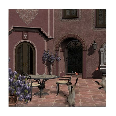 Quiet Courtyard Tile Coaster