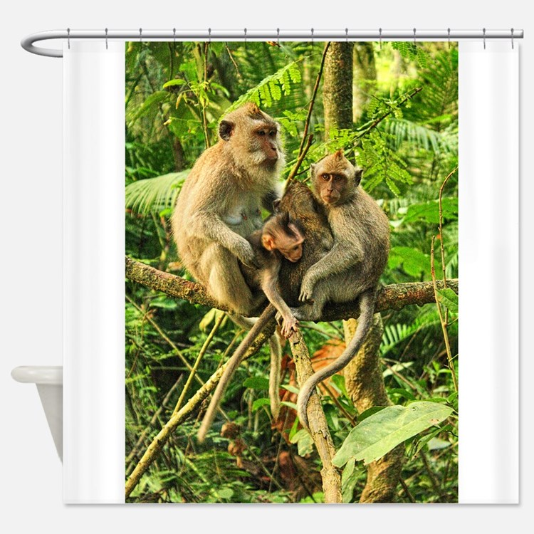 Togetherness on a Branch Shower Curtain