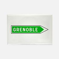 Roadmarker Grenoble - France Rectangle Magnet