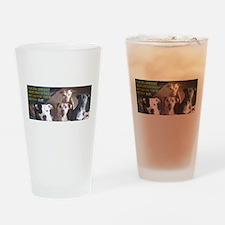 Pitbull Judgement Drinking Glass