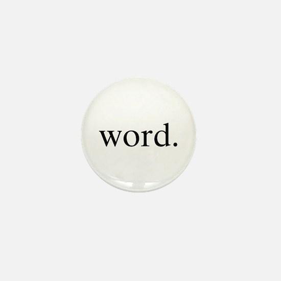Word. Mini Button