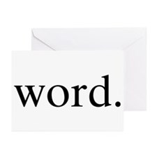 Word. Greeting Cards (Pk of 10)