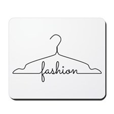clothes hanger drawing with word fashion Mousepad