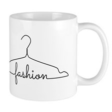 clothes hanger drawing with word fashion Mug
