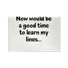 Learn my lines Rectangle Magnet
