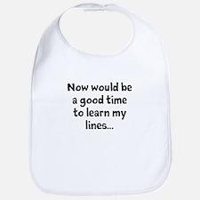 Learn my lines Bib