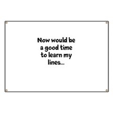 Learn my lines Banner