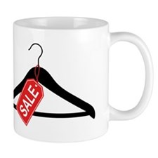 clothes hanger with red sale tag Mug