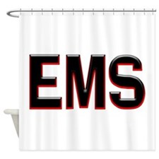 EMS RED Shower Curtain