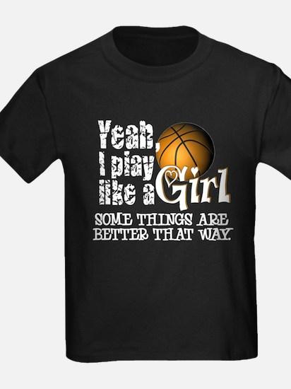 Play Like a Girl - Basketball T