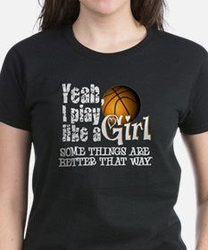 Play Like a Girl - Basketball Tee