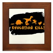Evolution Kills Framed Tile