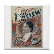 Houdini King of Cards Tile Coaster