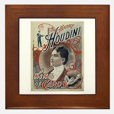 Houdini King of Cards Framed Tile