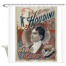 Houdini King of Cards Shower Curtain