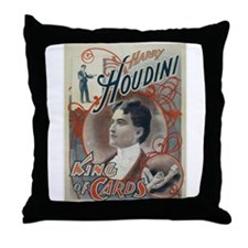Houdini King of Cards Throw Pillow