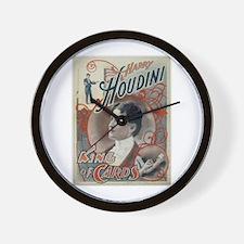 Houdini King of Cards Wall Clock