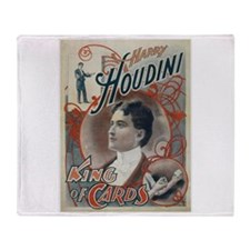 Houdini King of Cards Throw Blanket