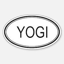 Yogi Oval Design Oval Decal