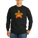 Orange Orchid Long Sleeve Dark T-Shirt