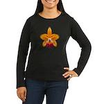 Orange Orchid Women's Long Sleeve Dark T-Shirt