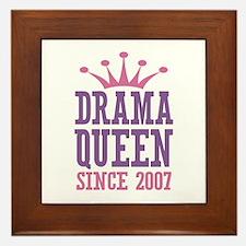 Drama Queen Since 2007 Framed Tile