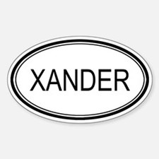 Xander Oval Design Oval Decal