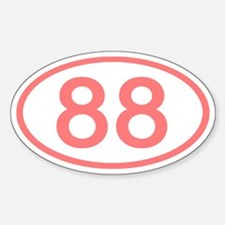 Number 88 Oval Oval Decal