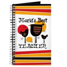 Chickens World's Best Teacher Journal