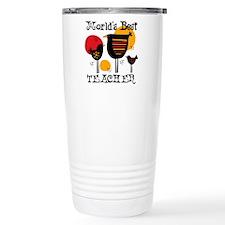 Chickens World's Best Teacher Travel Mug
