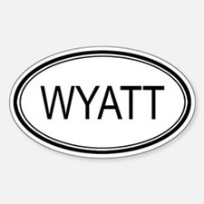 Wyatt Oval Design Oval Decal