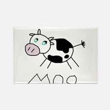 Moo Cow Rectangle Magnet
