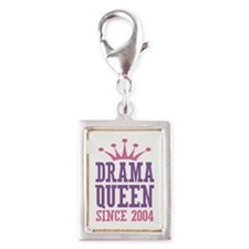 Drama Queen Since 2004 Silver Portrait Charm
