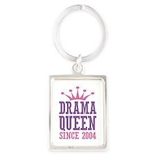 Drama Queen Since 2004 Portrait Keychain