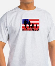 Thank You Veterans Ash Grey T-Shirt